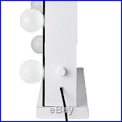 Hollywood Makeup Vanity Mirror with Light Stage Large Beauty Mirror Frameless