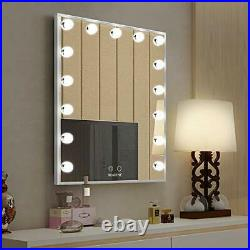 Hollywood Makeup Vanity Mirror with Lights, Bedroom Lighted Standing Silver
