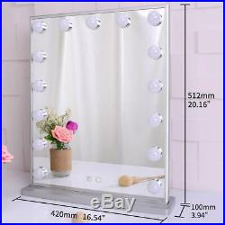 Hollywood Makeup Vanity Mirror with Lights Bedroom Lighted Standing Tabletop