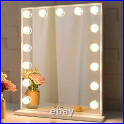 Hollywood Makeup Vanity Mirror with Lights, Bedroom Lighted Standing Tabletop Mi