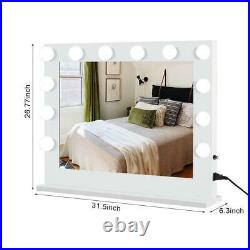 Hollywood Makeup Vanity Mirror with Lights Stage Large Beauty Dimmer 12 LED Bulb