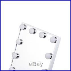 Hollywood Mirror With Lights LED Light Up For Makeup Vanity Dressing Table Large