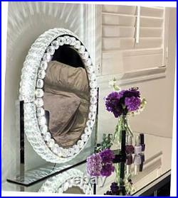 Hollywood Mirror with Lights Crystal Vanity Mirror I Vanity Mirror with