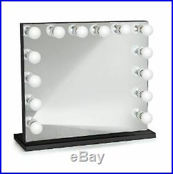 Hollywood Style 32Lighted Vanity Mirror with14Dimmer Bulbs Black side and base