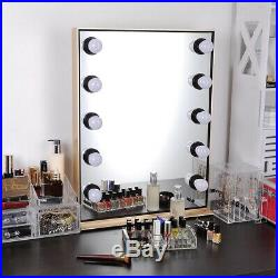 Hollywood Style LED Vanity Mirror Lights Kit Makeup Dressing 10 Bulbs Dimmable