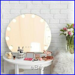 Hollywood Style Vanity Set with Lighted Mirror, Makeup Dressing Table with 10LED