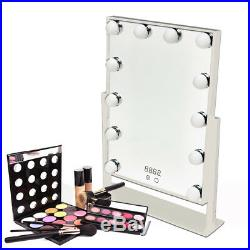 Hollywood Table Top Make Up Vanity Mirror Dimmable LED Light Bulbs Touch Control