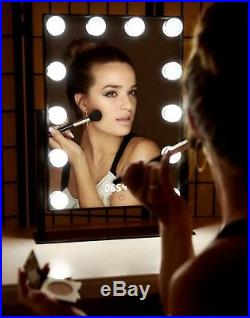 Hollywood Tabletop Make up Vanity Mirror Dimmable LED Light Bulbs Touch Control
