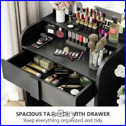 Hollywood Vanity 9 Led Bulbs Dressing Table Set Makeup Desk with Mirror & Drawer