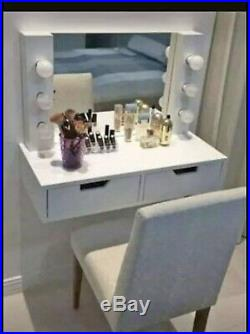Hollywood Vanity For Girls! Diferent Colors Includes Mirror And Lights