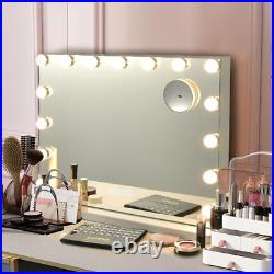Hollywood Vanity Lighted Mirror Touch Control Magnifying glass Bluetooth Speake