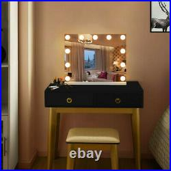Hollywood Vanity Makeup Mirror Bluetooth Large Wall Mirror LED Lighted US Stock