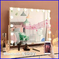 Hollywood Vanity Makeup Mirror with Light and Bluetooth LED Lighted 360°Rotation