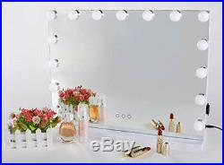 Hollywood Vanity Makeup Mirror with Smart Touch Adjustable LED Lights White
