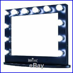 Hollywood Vanity Mirror, 12 LED Lights, Dual Outlets & USB, 32x27 Wall Mount