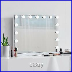 Hollywood Vanity Mirror 15pcs Dimmable LED Bulbs Makeup Mirror Wall Mounted USB
