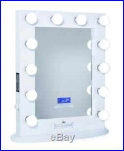 Hollywood Vanity Mirror Bluetooth Speakers, 12 LED Light Bulbs, USB Power Outlet
