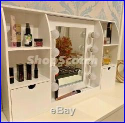 Hollywood Vanity Mirror Led Lights Hollywood Makeup Mirror With Storage Unit