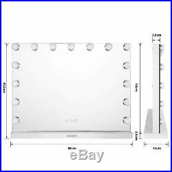 Hollywood Vanity Mirror Makeup Dressing Mirror with 15 LED Bulbs Lighted 23x17in