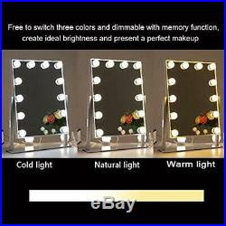 Hollywood Vanity Mirror With Lights Dimmable 3 Color 10 Brightness DC12V And For