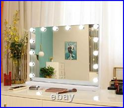 Hollywood Vanity Mirror with 14 Dimmable LED Lights Tabletop Makeup Beauty 50cm