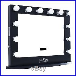 Hollywood Vanity Mirror with Bluetooth Speakers, 12 LED Lights, USB Port Outlets