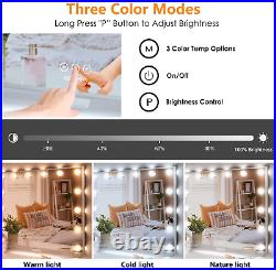 Hollywood Vanity Mirror with Lights, Large LED Makeup Mirror with 14pcs Dimmable
