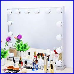 Hollywood Vanity Mirror with Lights, Lighted Makeup Dressing Tabletop or Wall