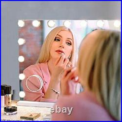 Hollywood Vanity Mirror with Lights, Lighted Makeup Mirror with 15 22.8x18