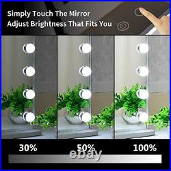 Hollywood Vanity Mirror with Lights, Tabletop Wall Cosmetic Lighted Makeup