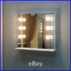 Hollywood White Vanity Makeup Mirror with LED Tabletops Lighted Cosmetic Mirror