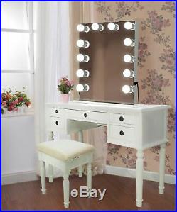 Hollywood style 24 Lighted Vanity Mirror with12 LED Bulbs White side and base