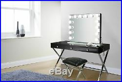 Hollywood style 32 Lighted Vanity Mirror with14 LED Bulbs Black side and base