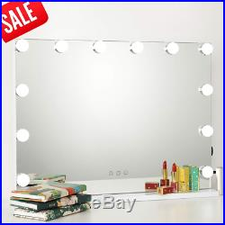 ICREAT Hollywood Makeup Mirror, Lighted Vanity Mirror, Cosmetic Mirror with 12 3