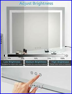ICREAT Mirror with Light, Hollywood Vanity Makeup Mirror, Wall Mounted Mirror