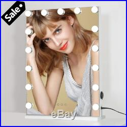 ICREAT Vanity Mirror with Lights, Hollywood Makeup Mirror with Touch Screen, 15