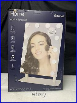 IHome Hollywood Vanity Mirror PRO with Built in Bluetooth iCVBT15SN G538