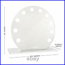 IMPRESSIONS Hollywood Sunset Mirage Vanity Mirror with LED Lights, Round Shape