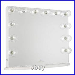 Impressions Hollywood Glow Plus 2.0 Vanity Mirror with 12 Clear LED Bulbs, with