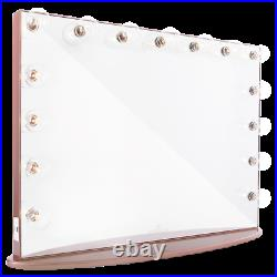 Impressions Hollywood Glow Pro Vanity Mirror Frosted LED Bulbs Rose Gold