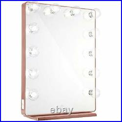 Impressions Hollywood Glow XL 2.0 Vanity Mirror with Lights and USB Rose Gold
