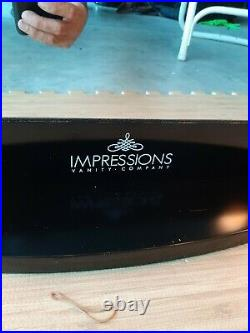 Impressions Vanity Hollywood Black Mirror with lights