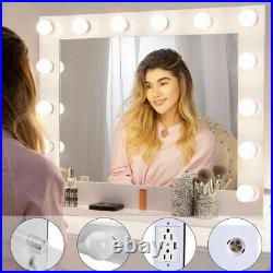 LED Bulb 23 32 Hollywood Makeup Mirror with Lights Stage Large Beauty Dimmer