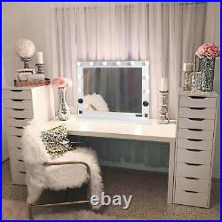 LED Hollywood Vanity Mirror Dimmable White Lights BT Speakers for Dressing Table