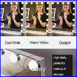 LED Light Vanity Hollywood Mirror, Makeup, Beauty, USB Outlet, 3 Colour Modes