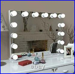 LIANWANG Hollywood Makeup Mirror with LED Lights, Large Cosmetic Vanity Mirror