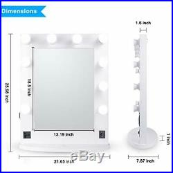 LUVODI Hollywood Makeup Vanity Mirror with 10 LED Lights Dimmable Replaceable