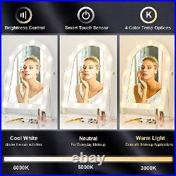 LUXFURNI Hollywood Lighted Vanity Makeup Mirror with 13 LED Lights, Touch Control