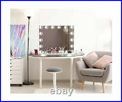 LUXFURNI Vanity Mirror with Makeup Lights, Large Hollywood Light up Mirrors w