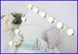 Large Bluetooth Vanity Makeup Mirror With Lights Hollywood Lighted Dressing Tabl